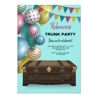 College Trunk Party Going Away Graduation Card Zazzlecom