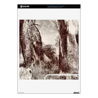 Trunks in the forest by Bertrand-Jean Redon Decal For The PS3 Slim