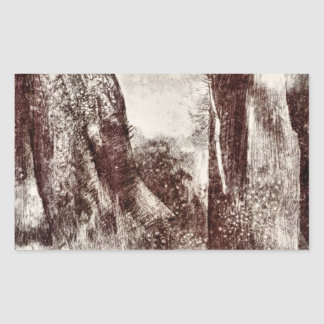 Trunks in the forest by Bertrand-Jean Redon Sticker