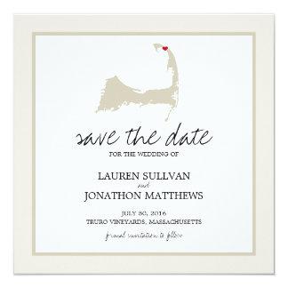 Truro Cape Cod Wedding Save the Date Card