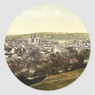 Truro, general view, Cornwall, England classic Pho Round Stickers