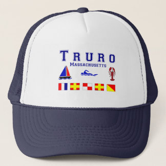 Truro MA Signal Flags Trucker Hat
