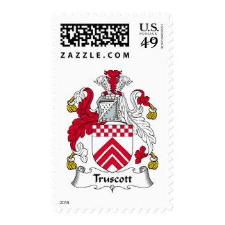 Truscott Family Crest Postage Stamp