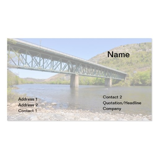 truss bridge over the Lehigh RIver Business Cards