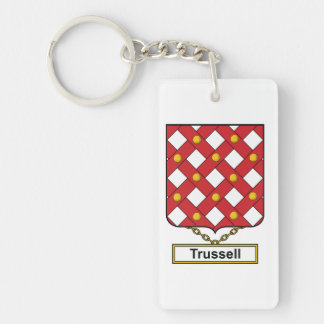 Trussell Family Crest Keychain