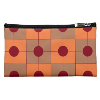 """Trusses of make-up imitation deer """"points&carrés """" cosmetic bags"""
