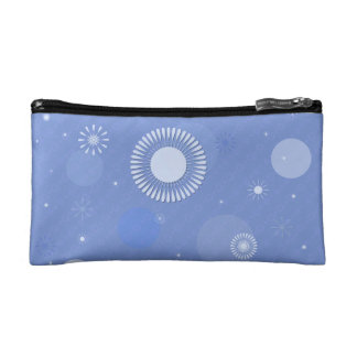 Trusses of make-up small size, blue cosmetic bag