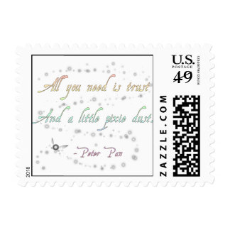 Trust and Pixie Dust Square Stamp