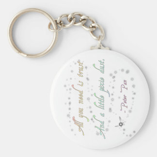 Trust and Pixie Dust Vertical Keychain