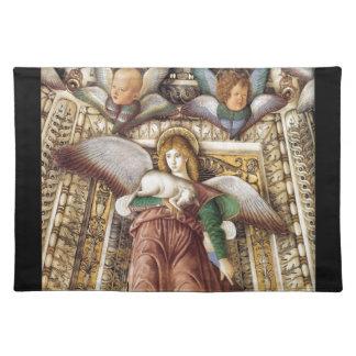 Trust - Angel, lamb, cherubs Cloth Placemat