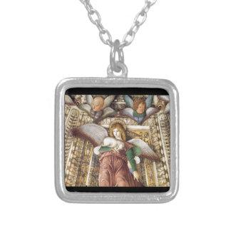 Trust - Angel, lamb, cherubs Silver Plated Necklace