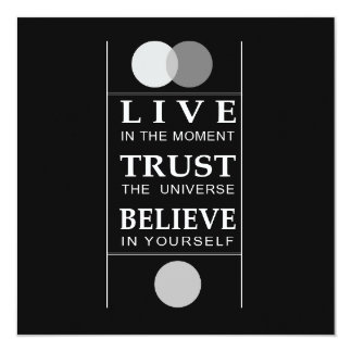 "Trust Believe Inspirational Quote 5.25"" Square Invitation Card"