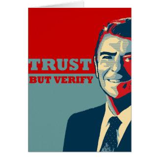 TRUST BUT VERIFY 10X10 CARD