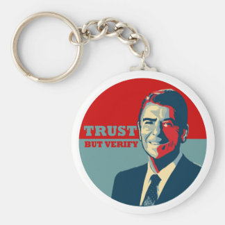 TRUST BUT VERIFY 10X10 KEYCHAIN