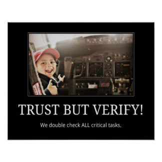 TRUST BUT VERIFY! Poster