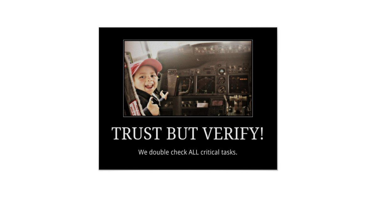Trust But Verify Poster Zazzle Com