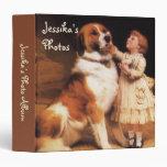 Trust by Charles Burton Barber, Saint Bernard dog Binder