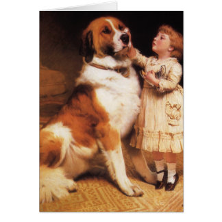 Trust by Charles Burton Barber, Saint Bernard dog Card