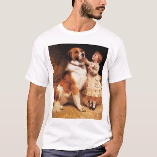 Trust by Charles Burton Barber, Saint Bernard dog T-Shirt