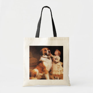 Trust by Charles Burton Barber, Saint Bernard dog Tote Bag
