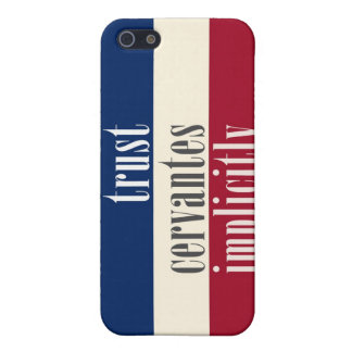 """""""Trust Cervantes Implicitly"""" Cover For iPhone SE/5/5s"""