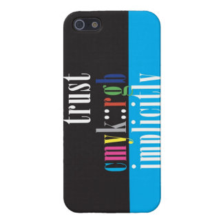 """""""Trust CMYK::RGB Implicitly"""" iPhone SE/5/5s Cover"""