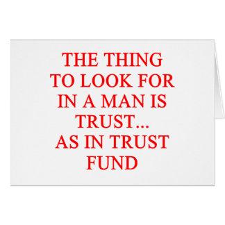 TRUST fund gold digger joke Card