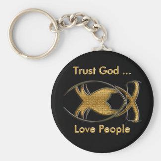 Trust God Keychain