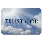 TRUST GOD RECTANGULAR PHOTO MAGNET