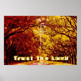Trust God's Love Autumn Encouragement Poster