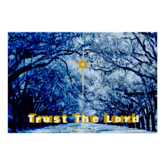 Trust God's Love Winter Encouragement Message Poster