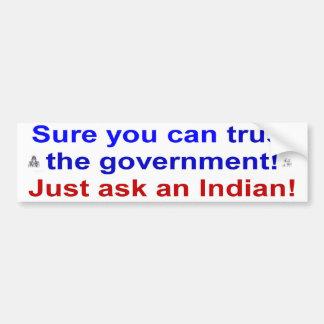 trust goverment bumper sticker