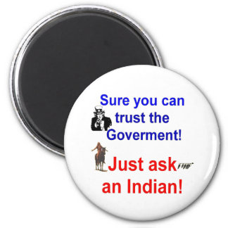 trust goverment shirt-1 2 inch round magnet