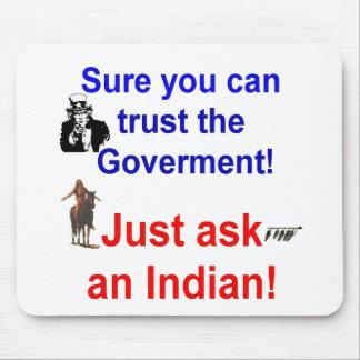 trust goverment shirt-1 mouse mats
