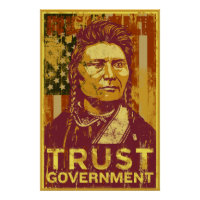 Trust Government Poster print