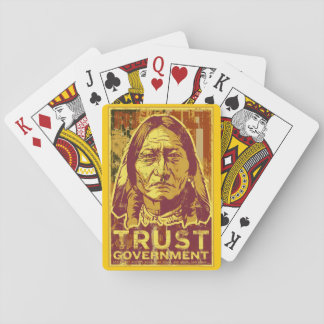 Trust Government Sitting Bull Playing Cards