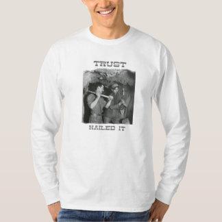 'Trust' Hane's Long Sleeve T-Shirt, White T-Shirt