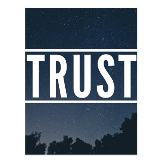 Trust hipster typography postcard