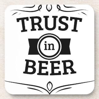 Trust in Beer Beverage Coasters