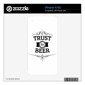 Trust in Beer iPhone 4 Decal