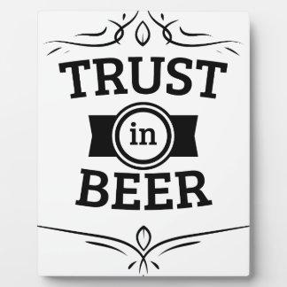 Trust in Beer Plaque