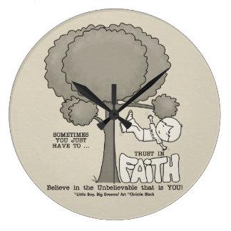 Trust in Faith Large Clock