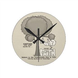 Trust in Faith Round Clock