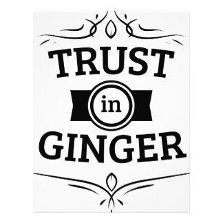 Trust In Ginger Letterhead