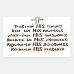 Trust in God Rectangular Sticker