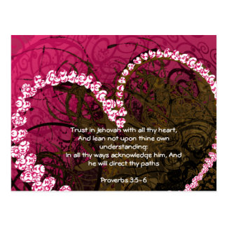 Trust in God with All Your Heart Proverbs 3:5 Postcard
