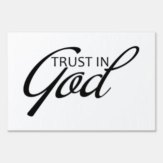 Trust in God Yard sign