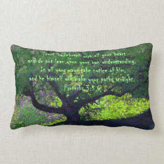 """""""Trust in Jehovah with all your heart..."""" Lumbar Pillow"""