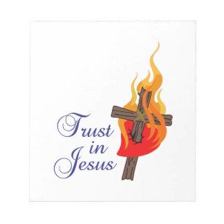 TRUST IN JESUS NOTE PAD