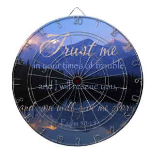 Trust in me in times of Trouble Psalms 50:15 Dartboards